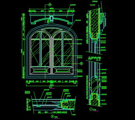 CAD西式窗素材