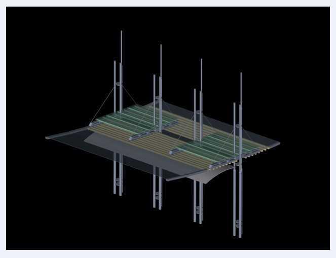 廊架3dmax模型库 高清图片
