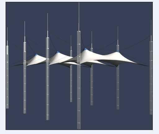拉膜建筑3dmax模型库 高清图片