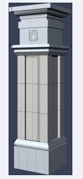 景观柱廊 3dmax模型库免费下载 小品及配套 高清图片