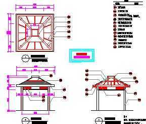 sketchup教程下载_景观四角凉亭设计图免费下载 - 小品及配套设施 - 土木工程网