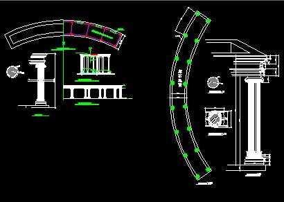 欧式廊架施工图