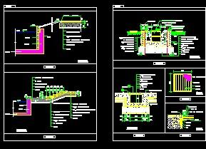 设计 详图/池塘等滨水驳岸CAD详图...