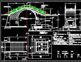 古典拱桥结构设计图免费下载