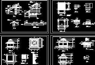 某木亭设计施工图免费下载图片