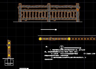 仿木栏杆做法详图