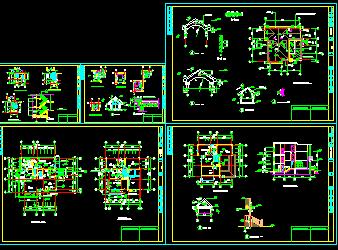 别墅施工图(含建筑结构水电)
