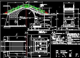 古典拱桥结构设计图纸免费下载