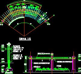 单柱花架施工详图