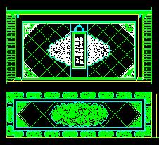 中式造型墙CAD图块