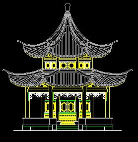 十六柱八角重檐亭全套设计图纸