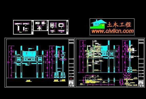 牌坊风格江南v风格图纸免费下载-园林建筑及相38kg轨道图纸图片