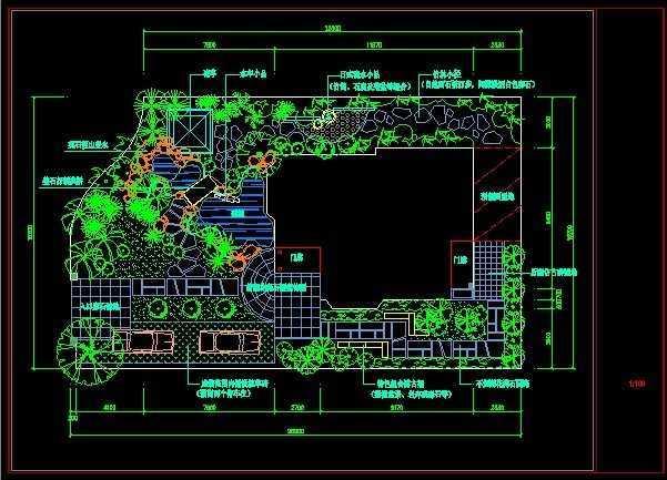 现代别墅庭院设计平面图免费下载