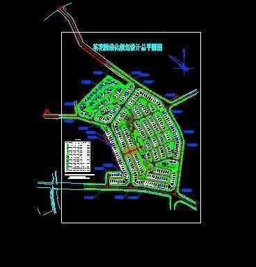 花园绿化规划设计总平面图免费下载