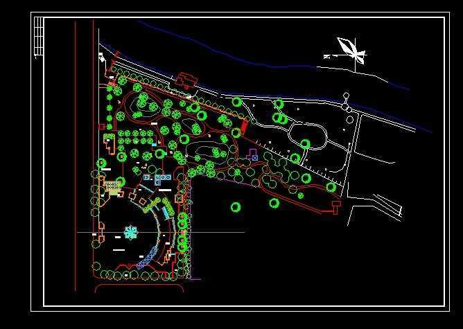 广场绿化设计总平面图免费下载