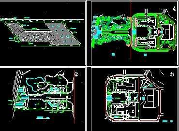 某图纸学院绿化工程景观免费下载-园林建筑及图纸毕业设计暖通图片