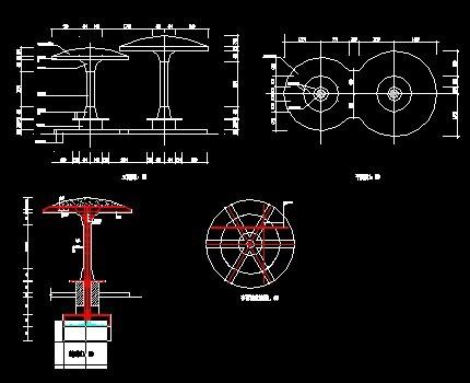 蘑菇亭设计图纸免费下载 - 园林建筑及相关 - 土木