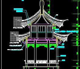 钢结构八角重檐亭施工图纸