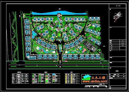 別墅綠化規劃圖紙免費下載