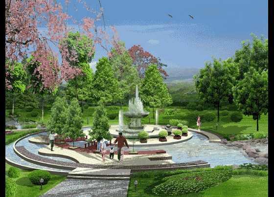住宅小区中心水景免费下载
