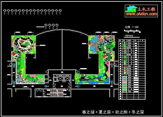 屋顶花园园林景观设计总平面图免费下载