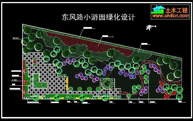 小游园绿化设计平面图