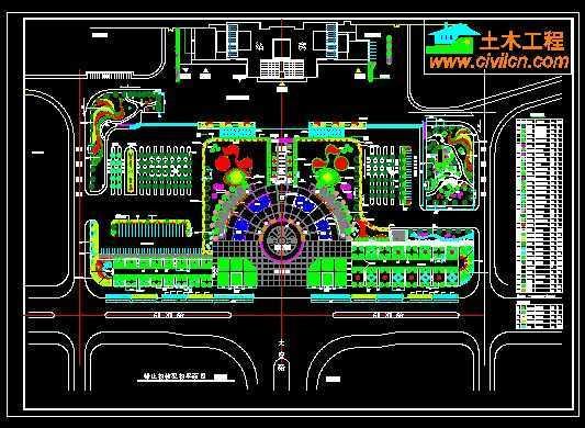 火车站广场绿化平面图