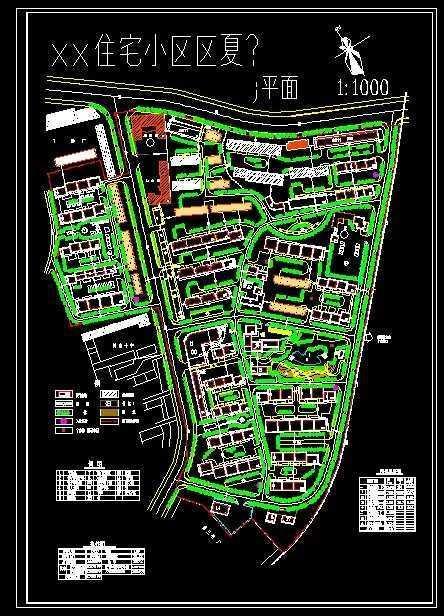 小区总平面图免费下载 园林绿化及施工图片