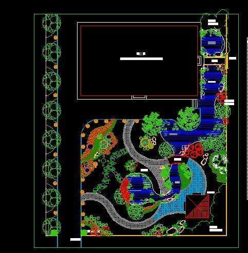 别墅植物配置平面图免费下载