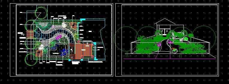 别墅花园绿化布置平面图