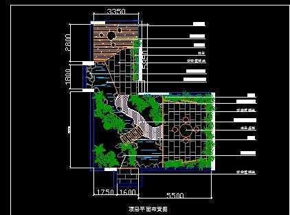 屋顶花园平面布置图免费下载