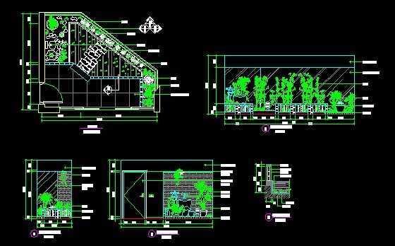 别墅屋顶阳台绿化设计图