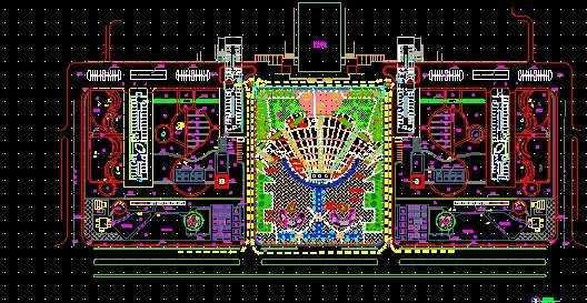 广场规划设计总平面图免费下载