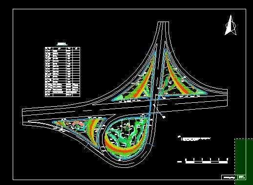 高速公路互通绿化平面图