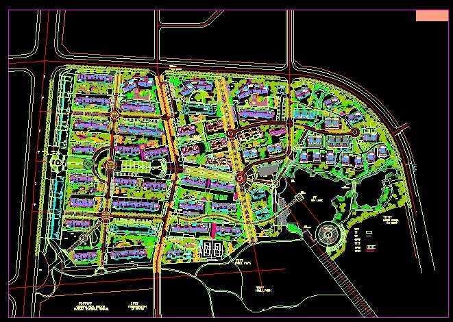 小区种植设计平面图