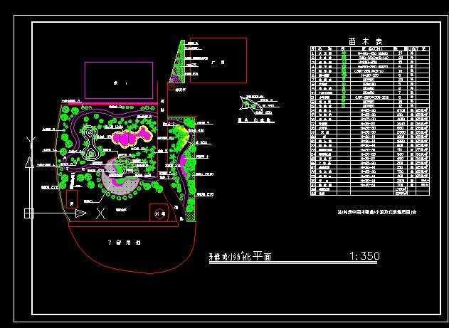 校园小游园设计平面图内容|校园小游园设计平面图 ...