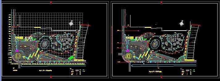 中心广场景观设计平面图