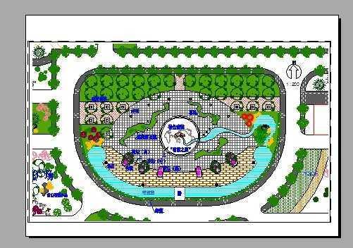 中心广场景观设计总平面图免费下载