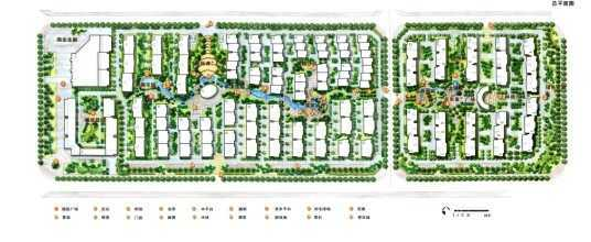 某小区景观设计总平面图免费下载 园林绿化及施工
