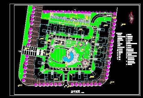 某小区总平面图免费下载 园林绿化及施工图片
