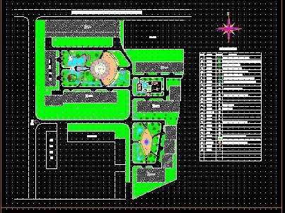 某小区规划绿化总平面图
