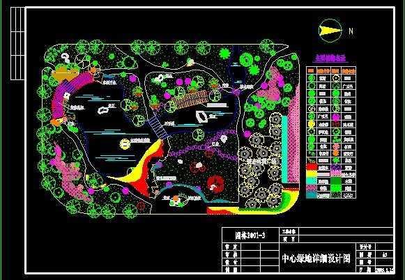 小区中心绿地景观设计图