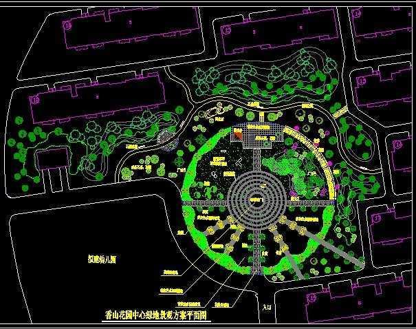 园林绿化设计手绘平面图