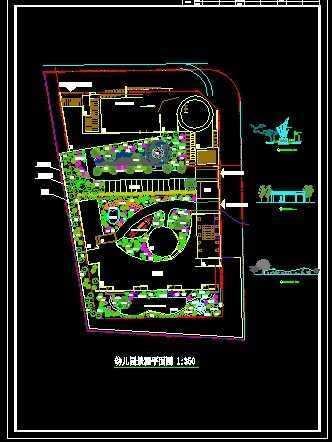 幼儿园景观平面图免费下载