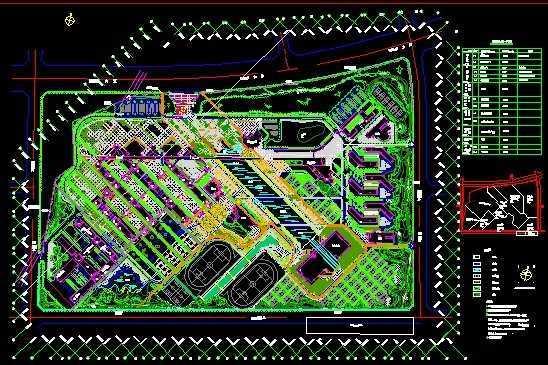某大学校园景观设计总平面图免费下载