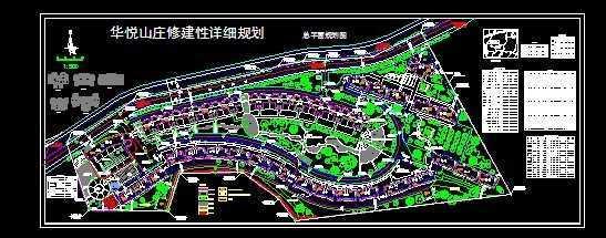 华悦山庄规划总平面图