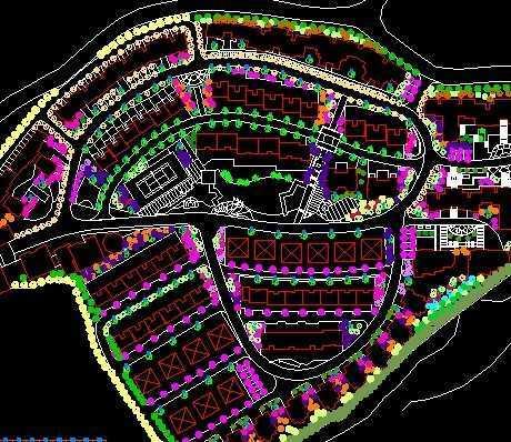 小区绿化设计平面图