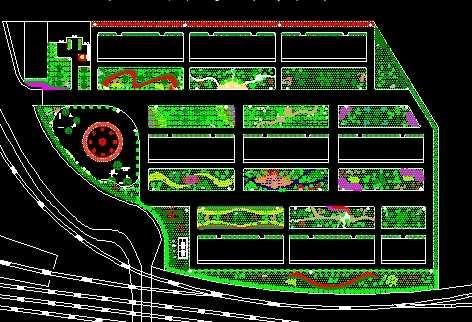 某小区绿化设计平面图
