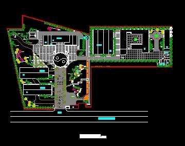 厂区植物配置平面图