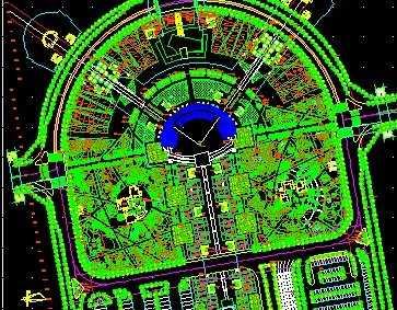 火车站绿化平面图
